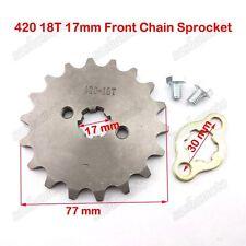 420 18T 17mm Front Sprocket 50cc 70cc 90 110 125cc ATV Pit Dirt Bike SSR YCF GPX