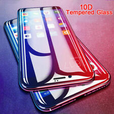 For iPhone X XS MAX XR 6 6S 10D Full Cover Real Tempered Glass Screen Protector