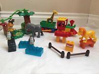 Lego Duplo Mega Blocks Train zoo bundle