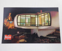 Disney Unused Postcard Monsanto Home of Future at Night 1960s Disneyland