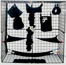Black Midnight *15 Pc Sugar Glider Cage set * Rat * double layer Fleece