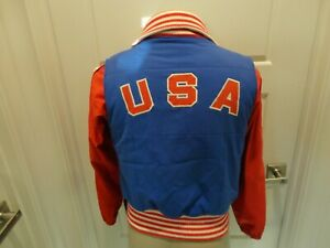 Vtg 1984 SARAVEJO Authentic Descente U.S. Olympic Team Adult S Jacket With PIN
