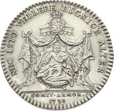 O3725 RARE Jeton Louis XV Etats Bretagne Saint Brieuc 1730 Argent Silver SUP ++