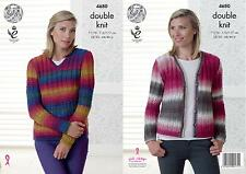 King Cole Ladies Cardigan /& Waistcoat Riot Knitting Pattern 3959 Chunky ...