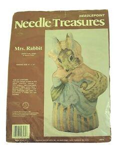 Vintage Mrs. Rabbit 1988 Needle Treasures Needlepoint Kit #06575w/o needle