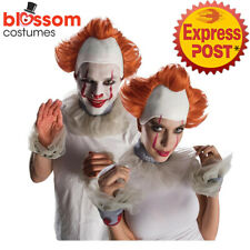 AC769 Pennywise Costume Wig Set IT 2 Movie Stephen King Horror Clown Halloween
