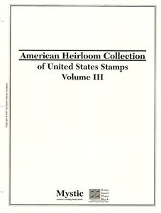 US American Heirloom Book 3, 2000-08, & all BOB with about 120+ M & U Stamps