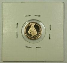1988 British Virgin Islands $50 Fifty Dollars Proof Gold Coin Birds Head Staff