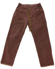 Free People Corduroy Dark Pink Boho Mom Crope Jeans High Rise Raw Hem Sz XS