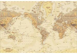 World Map / Atlas Topper Icing Sheet / Wafer Paper | Edible Print | Cake wrap
