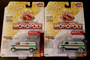 Johnny Lightning 85th Anniversary Monopoly 1977 Dodge Van White Lightning Chase