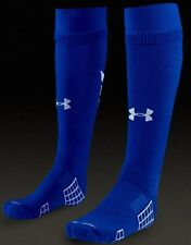Under Armour men's $18 Striker OTC Soccer Socks blue-white size M (8 1/2)   #22