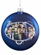 Doctor Who Eleven Doctors Glass Ball Bauble Christmas Tree Decoration X 2 -