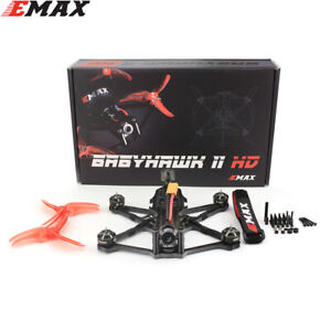 "Emax Babyhawk II HD 3.5"" Micro FPV Racing Drone 155mm Caddx Vista Nebula Pro"