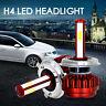 LED Headlight H4 HB2 9003 Light Bulbs Hi/Lo Beam Replace Halogen HID 80W 16000LM
