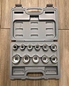 "John Deere 3/4"" Drive Metric Socket Set 11 Piece with Hard Case - TY19986"