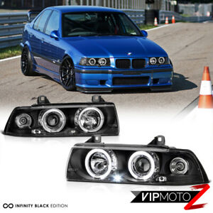 1992-1998 BMW E36 3-Series 4D Sedan Hatchback Halo Angel Eye Headlight Corner