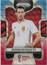 2018 Panini FIFA World Cup Blue Red Wave Prizm (207) Sergio BUSQUETS Spain