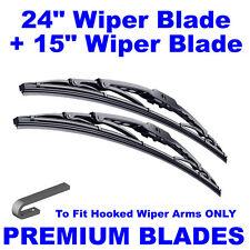 "Premium 24"" Inch & 15"" Inch Pair Front Windscreen Wiper Blades"