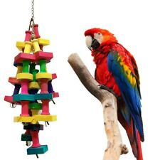 Parrot Bird Toys Chew Bite Rainbow Building Blocks String Large Rope Chew Play