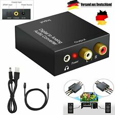 Optical Coaxial Toslink Digital To Analog Audio Converter Adapter RCA L/R TV HD