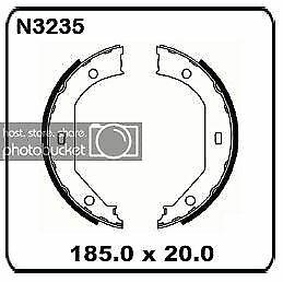 Bmw 5 Series 520i 525i E39 9/2000-6/2003 REAR Handbrake shoe SET N3235