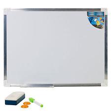 600 x 400mm Aluminium Frame Magnetic Dry Wipe Whiteboard Marker Eraser and Magnet