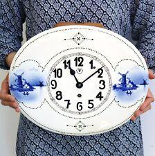 ANTIQUE Wall Clock JAN MILOTA JOSEF TESAR RARE Czech 1928 Porcelain China 14 Day