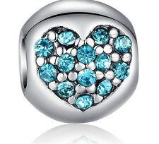 hot European Silver CZ Charm Beads Fit sterling 925 Necklace Bracelet Chain ka2s