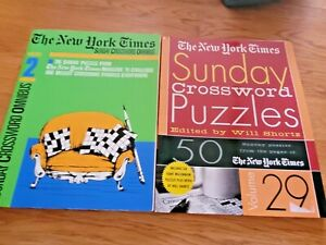 Lot of 2 Crossword Puzzle Books The New York Times
