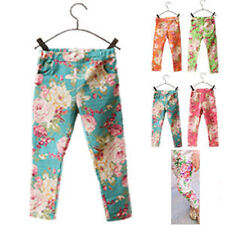 100% Cotton Floral Leggings (2-16 Years) for Girls