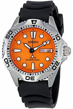 NEW MEN'S SEIKO SOLAR 200M AIR DIVER'S ANALOG ORANGE DIAL SPORTS WATCH SNE109P1