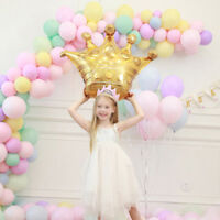28''Gold Crown Large Balloon Foil Helium Baby Princess Birthday Wedding Party
