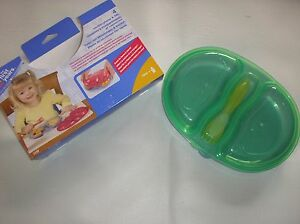 CHILDS/BABY'S  PLASTIC FEEDING SET/PLATE/DISH AGE FROM 12 MONTHS...BNWT