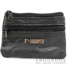 Ladies / Womens Small Soft Nappa Leather Money / Coin Purse with Keyring