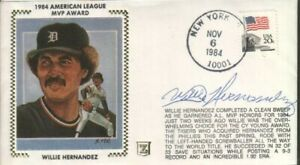 Willie Hernandex Autographed First Day Cover 1984 Cy Young Pitcher