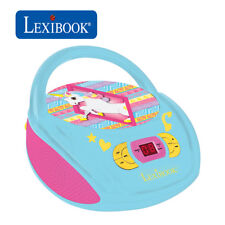 Lexibook Kids Unicorn Boombox Radio CD Player AUX FM Radio Stereo