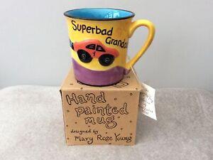 Ceramic mug Mary Rose Young Superbad Granddad 3D Car Yellow hand painted large
