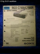 Sony Service Manual MDX c7900/c7900r Mini Disc Player (#6293)