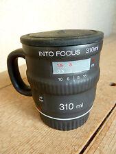 """Bitten INTO FOCUS Camera Lens Replica  Mug   4 1/4"""""""