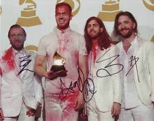 Imagine Dragons AUTHENTIC Autographed Group Photo by all 4 COA SHA #76795