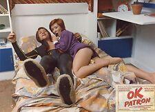 JACQUES DUTRONC AXELLE ABBADIE OK PATRON 1974 PHOTO ANCIENNE ARGENTIQUE N°9
