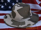SMALL BOONIE CAMO HAT BROWN CAMOFLAUGE US NAVY ARMY AIR FORCE MARINES USCG SEALS