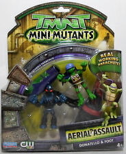 PLAYMATES 2008 TMNT AERIAL ASSAULT DONATELLO & FOOT WITH PARACHUTES MOSC NEW