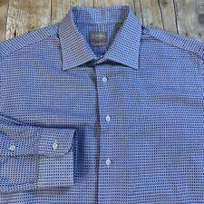 Gitman Bros Tailored Fit Mens Dress Shirt Spread Collar Sz 17 33