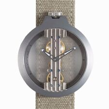 Reloj de cuerda manual Atto Verticale correa en lienzo número 3343A1