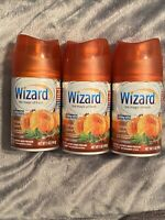 3x WIZARD Automatic Spray Refill, Air Wick/Glade Dispensers, Pumpkin Spice 5oz