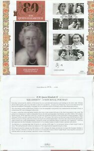 21 APRIL 2006 QUEENS 80th BIRTHDAY FDC EQUANIMITY SIGNED BY ARTIST CHRIS LEVINE