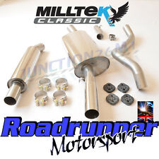 "Milltek Golf GTi MK1 Exhaust System Resonated Stainless Downpipe Back 2.25"" New"