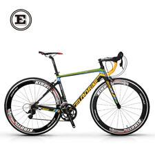 Eurobike 700C  Road Bike 16 Speed Racing Bicycle Carbon Frame 49cm Black Yellow